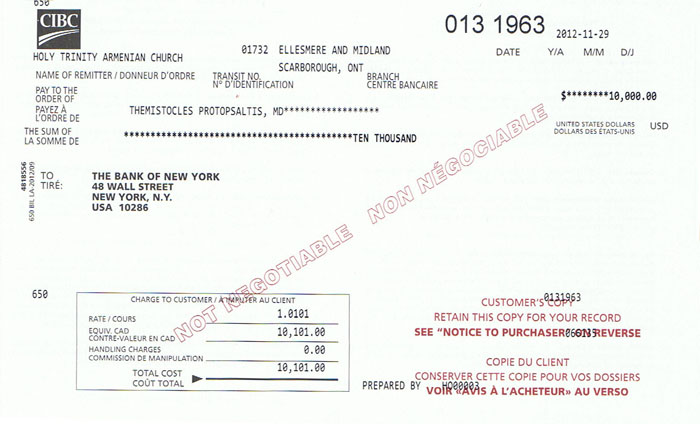 CIBC 10000 Transfer