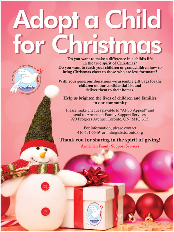 7th Annual Adopt a Child for Christmas
