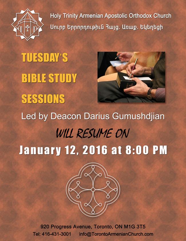 BibLe Study - Jan 12, 2016 S1