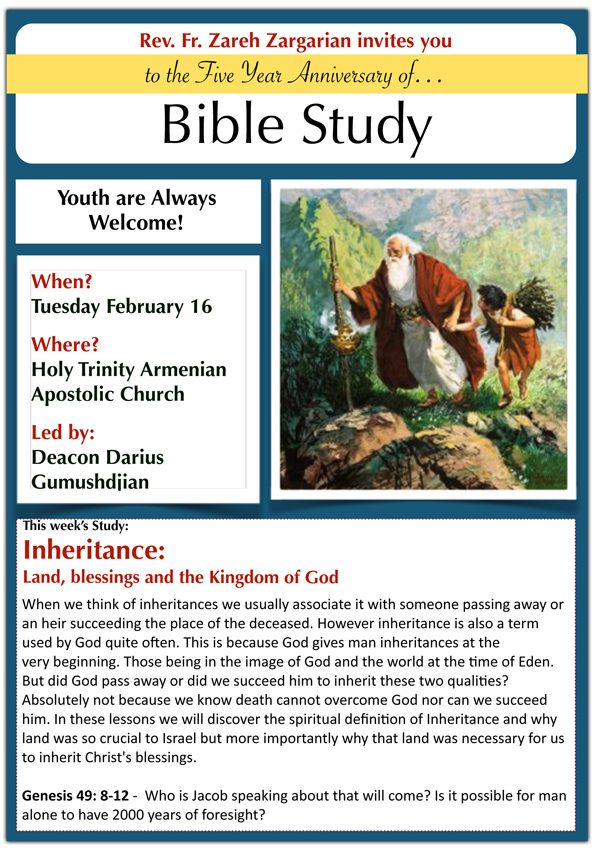 Bible Study Flyer - Feb. 16, 2016