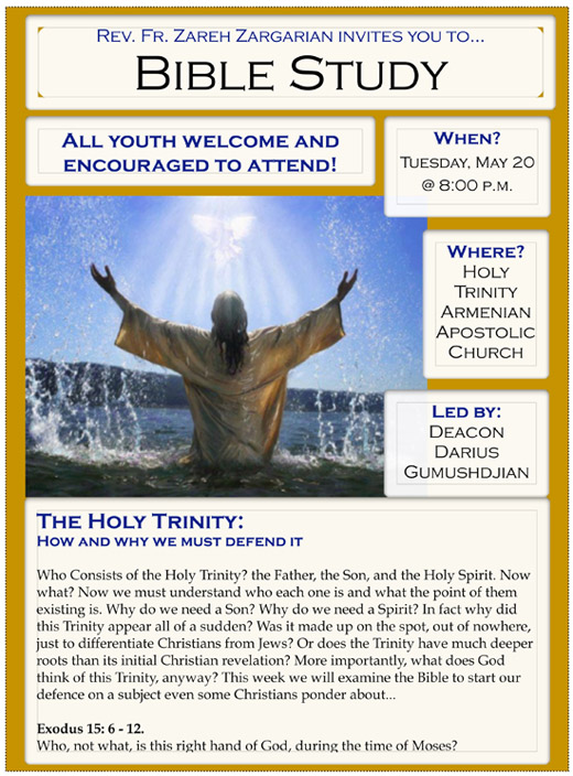 Bible Study Flyer, May 20