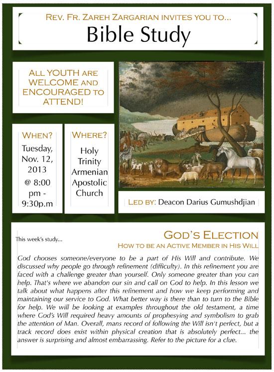 Bible Study - Nov.12