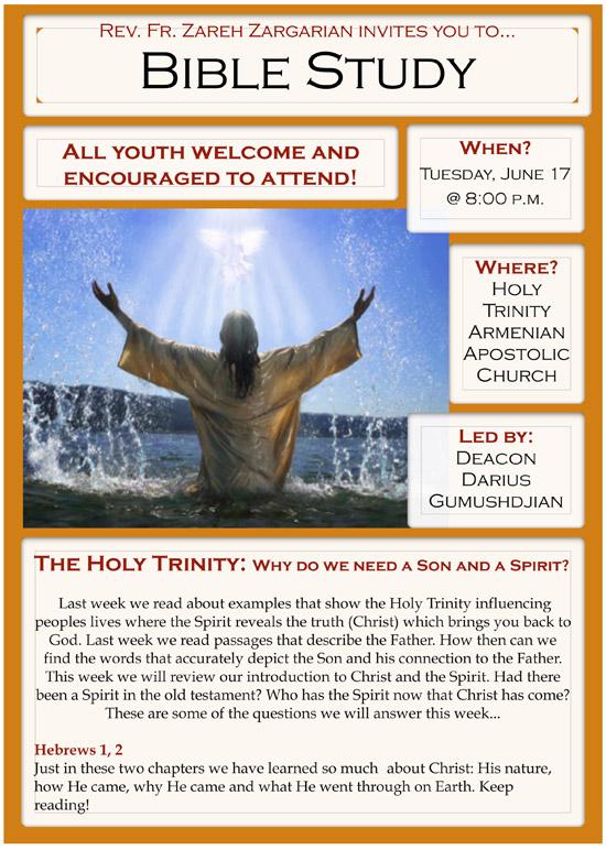Bible Study Flyer, June 17