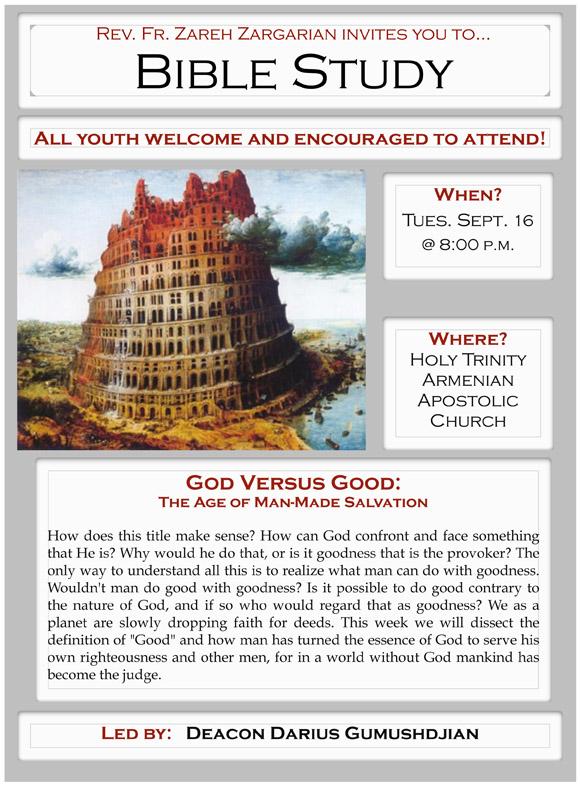 Bible Study September 23