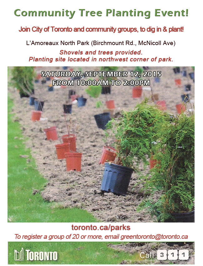 Community Tree Planting Event 2015