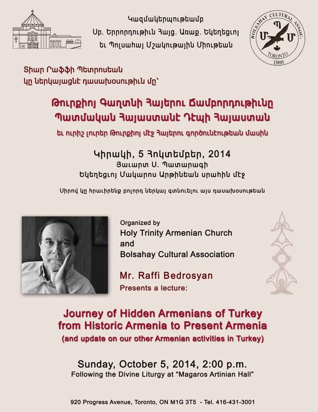 Journey of Hidden Armenians of Turkey Web
