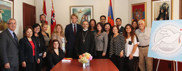 Minister Chris Alexander Visits the Holy Trinity Armenian Church, Armenian Family Support Services